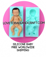 Clay baby mold. Doll mold. 3D baby mold. Silicone doll mold. 3D doll mold. Free shipping (1) (2)